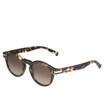 Sonnenbrille, transparente Havanna-Optik, Verlaufstönung