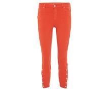 "Jeans ""Antonia"", Skinny Fit, Deko-Knöpfe, Orange"