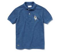 Jungen-Poloshirt aus Baumwoll-Piqué mit Astronautenmotiv