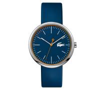 Uhr mit blauem Silikonarmband Orbital