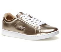 Flache Damen-Sneaker aus Leder im Metallic-Look CARNABY EVO