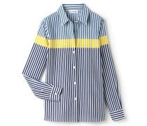 Damen-Bluse aus Seide und Baumwoll-Voile mit Streifen