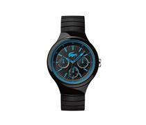 Uhr mit schwarz-blauem Silikonarmband Borneo