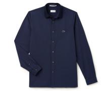 Regular Fit Herren-Hemd aus Oxford-Baumwolle mit geripptem Kragen