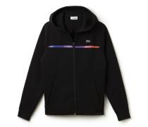 Herren-Sweatshirt-Jacke aus Fleece mit Farbstreifen LACOSTE SPORT
