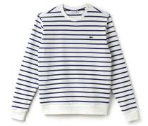 Maritimes Rundhals-Sweatshirt aus Baumwollfleece