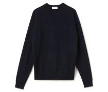 Herren-Kaschmir-Pullover mit V-Ausschnitt