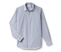 Regular Fit Herren-Hemd aus fein karierter Popeline