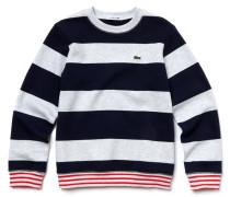 Jungen-Sweatshirt aus gestreiftem Jersey mit Farbkontrasten
