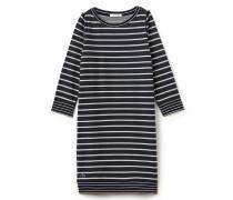 Damen-Sweatshirt-Kleid mit Streifenmuster