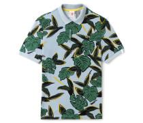 Regular Fit Herren-Poloshirt mit Tropenmuster LACOSTE L!VE