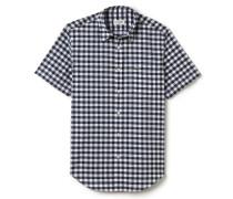 Kurzärmliges Regular Fit Hemd aus Popeline mit Vichy-Karomuster