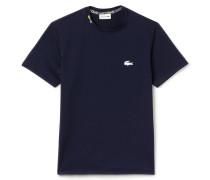 Herren-T-Shirt mit Rundhalsausschnitt und Flaggen-Stickerei
