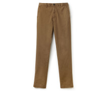 Slim Fit Herren-Chinohose aus Stretch-Gabardine