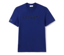 Herren-Rundhals-Shirt aus Jersey mit Lacoste-Schriftzug
