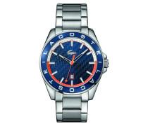 Uhr mit blauem Zifferblatt und Edelstahlarmband Westport
