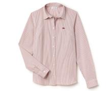 SlimFit Damen-Bluse aus gestreifter Popeline