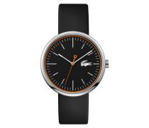 Uhr mit schwarzem Silikonarmband Orbital