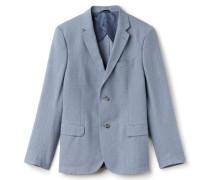 Zweifarbige Herren-Anzugjacke aus Leinen-Baumwollmischung