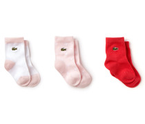 Mädchen-Socken aus Stretch-Jersey Dreierpack