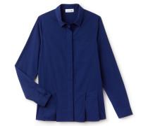 Damen-Bluse aus Seide und Baumwoll-Voile mit Falten-Einsatz