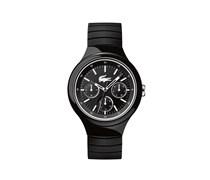 Uhr Borneo mit schwarz-weißem Silikonarmband