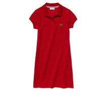 Kinder-Polo-Kleid aus feinem Piqué mit feinem Punktmuster