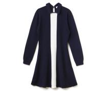 Ausgestelltes Damen-Sweatshirt-Kleid aus Jersey mit Polokragen