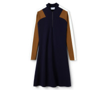 Damen-Polokleid aus Milano-Wolle mit Colorblocks MADE IN FRANCE