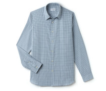 SlimFit Herren-Hemd aus karierter Baumwollpopeline