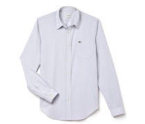 Slim Fit Herren-Hemd aus Jacquard-Baumwoll-Popeline