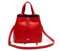 Damen Break Point Bucket Bag aus Leder im Colorblock-Design