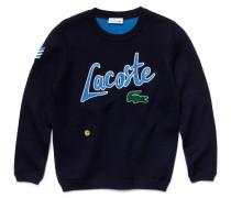 Kinder-Fleece-Sweatshirt mit Rundhalsausschnitt und Stickerei