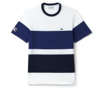 Herren-Rundhals-T-Shirt aus Jersey im Colorblock-Design