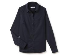 SlimFit Bluse aus dehnbarer Popeline