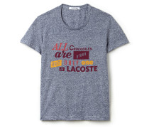 Rundhals-T-Shirt aus fließendem Jersey mit Fair-Play-Schriftzug