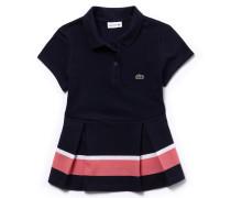 LACOSTE Mädchen-Poloshirt aus Petit Piqué mit Faltenlegung