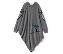 Damen-Poncho aus Wolle mit asymmetrischem Schnitt Runway collection