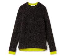 Damen-Pullover aus meliertem Jersey mit hohem Kragen