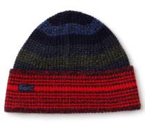 Damen-Mütze aus mouliniertem Jersey mit mehrfarbigen Streifen