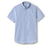 Klassisch geschnittenes Hemd aus gestreifter Popeline