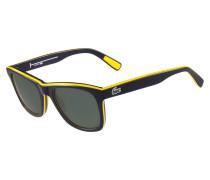 Polarisierende Sonnenbrille mit Streifen und Paspel