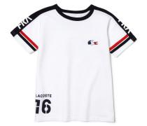 Kinder-Rundhals-T-Shirt aus technischem Jersey mit abgesetzten Details LacosteSPORT - FAN-Kollektion