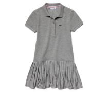 Mädchen-Polo-Kleid mit Jersey und Plissee-Rock