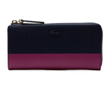 Damen-Reißverschluss-Brieftasche für acht Karten aus zweifarbigem Leder CHANTACO