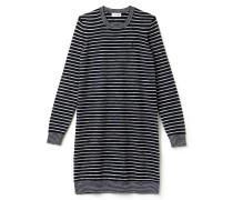 Maritimes Damen-Kleid aus Woll-Jersey mit Kontrastsäumen