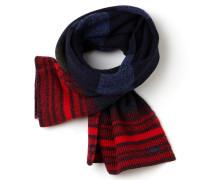 Damen-Schal aus mehrfarbig gestreiftem, mouliniertem Jersey