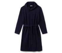 Langer Herren-Mantel aus Fleece mit Kreuzverschluss FASHION SHOW
