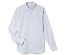SlimFit Herren-Hemd aus gestreifter Baumwollpopeline
