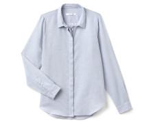 Slim Fit Damen-Bluse aus Baumwoll-Voile